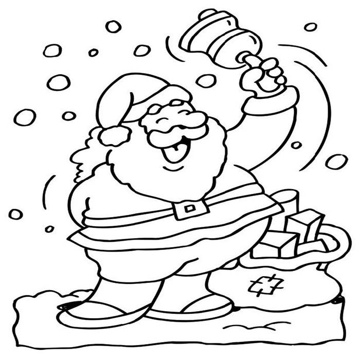 laughing santa coloring page