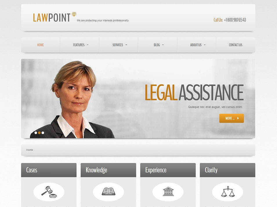 law point responsive joomla template