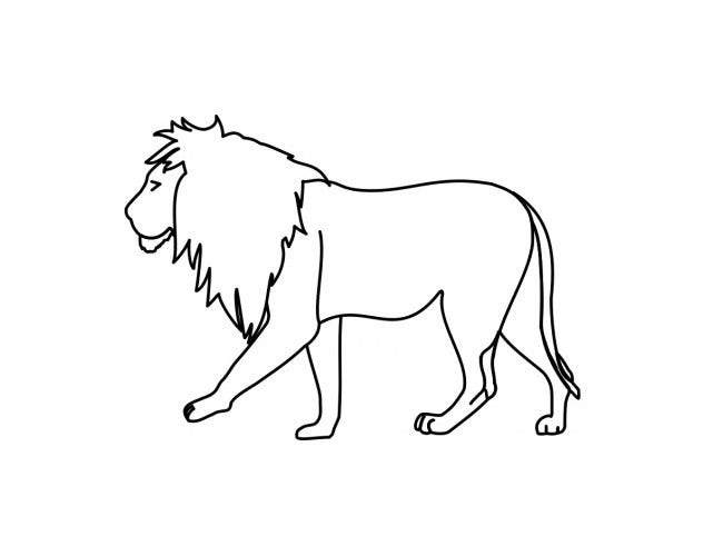 lion template 12