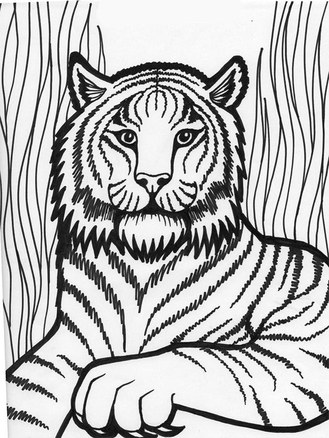 lion template animal templates free premium templates - Colouring Pictures Of Lions