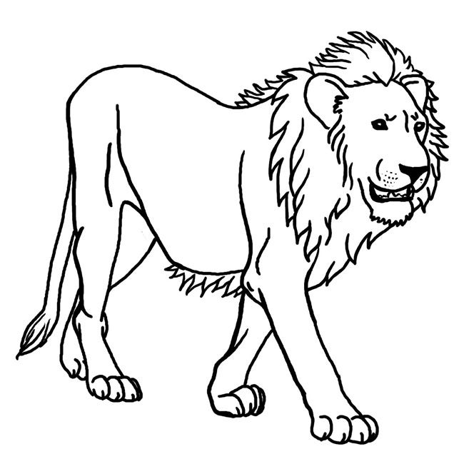 lion template 33