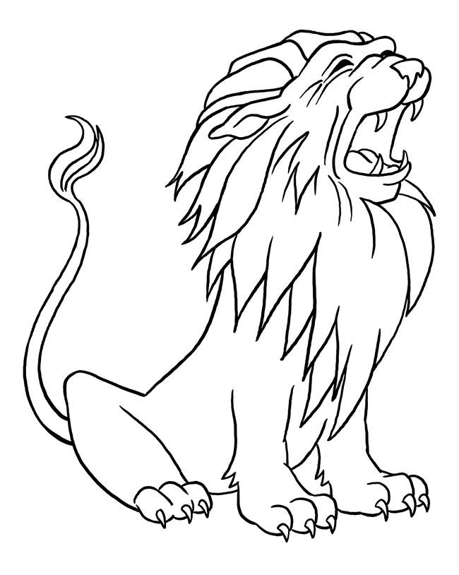 Lion Template Animal Templates Free Premium Templates Learn how to draw a peacock for kids easy and step by step. lion template animal templates free