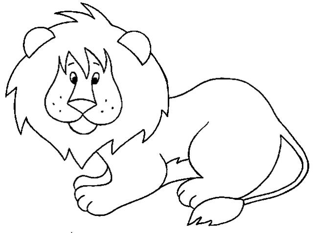 Lion Coloring Pages Pdf : Lion template animal templates free premium