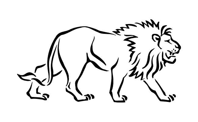 graphic relating to Printable Pictures of Lions known as Lion Template - Animal Templates Absolutely free Quality Templates
