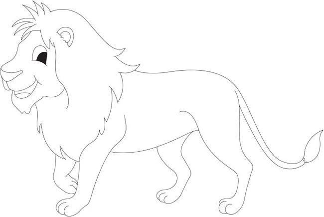 lion template 44