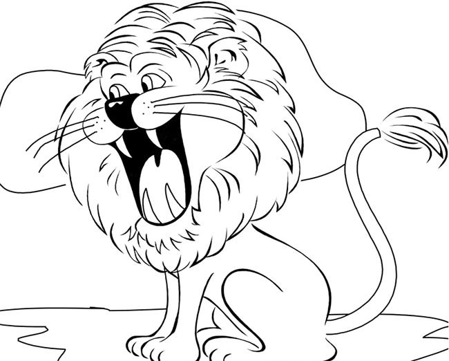 lion template 45