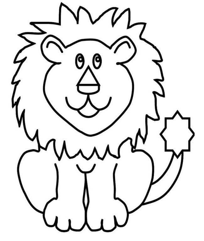 picture relating to Printable Pictures of Lions named Lion Template - Animal Templates Absolutely free Top quality Templates