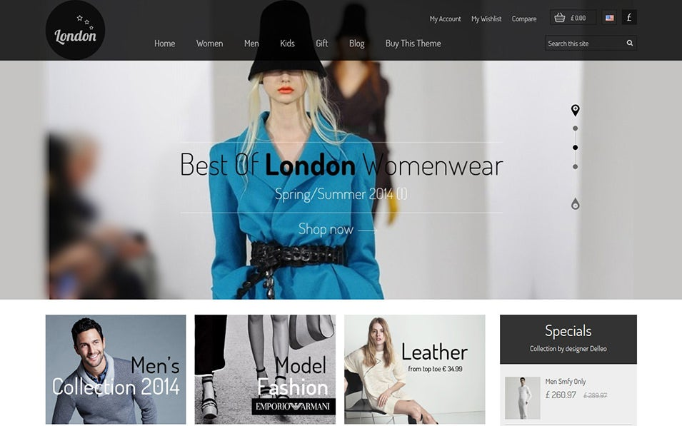 London Stars Flat Design PrestaShop Themes