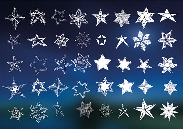 lucky vector stars set