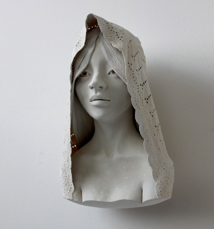 luna ceramic sculpture