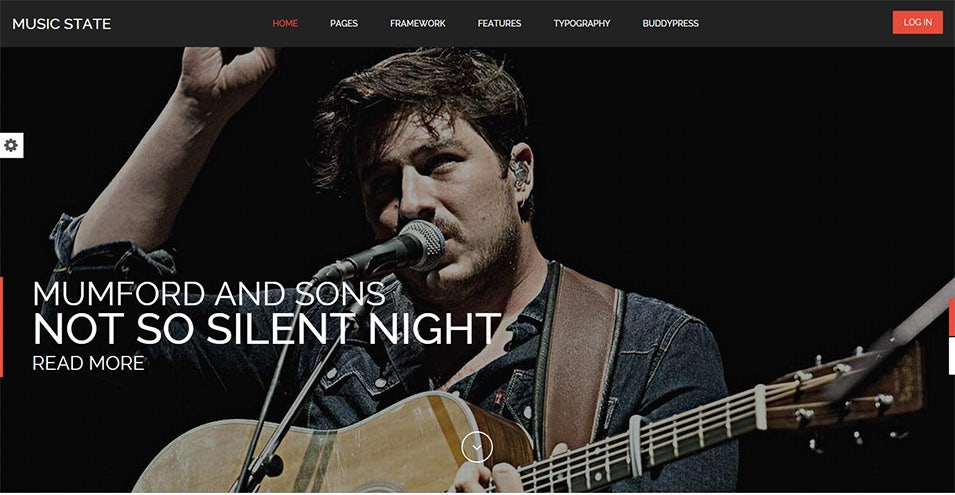 music state band and fan wordpress theme