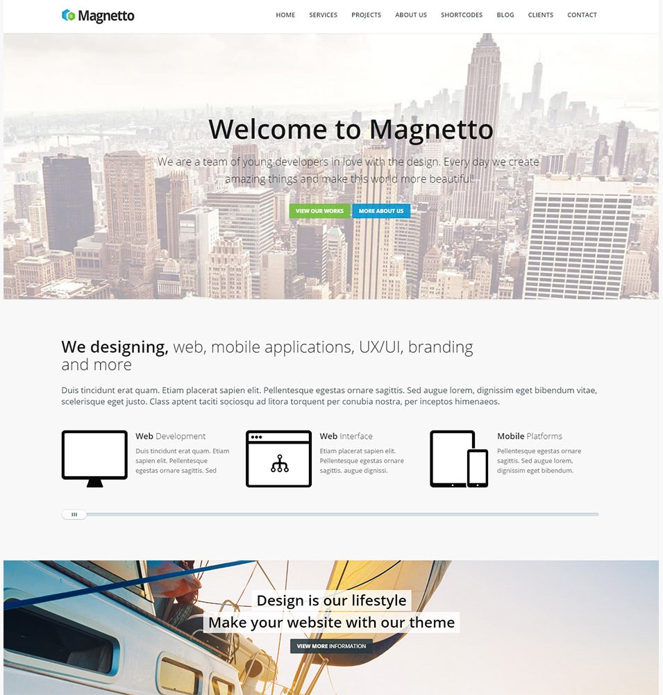 magnetto responsive drupal theme