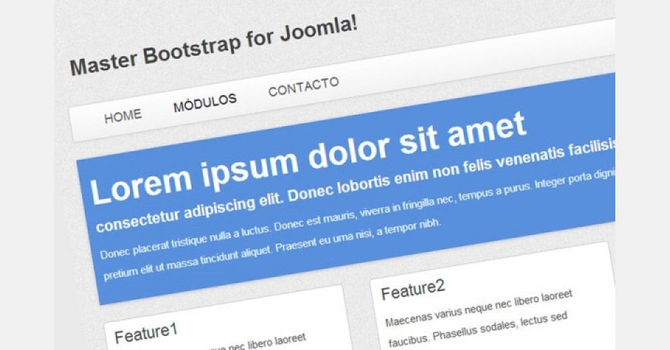 master bootstrap free template for joomla