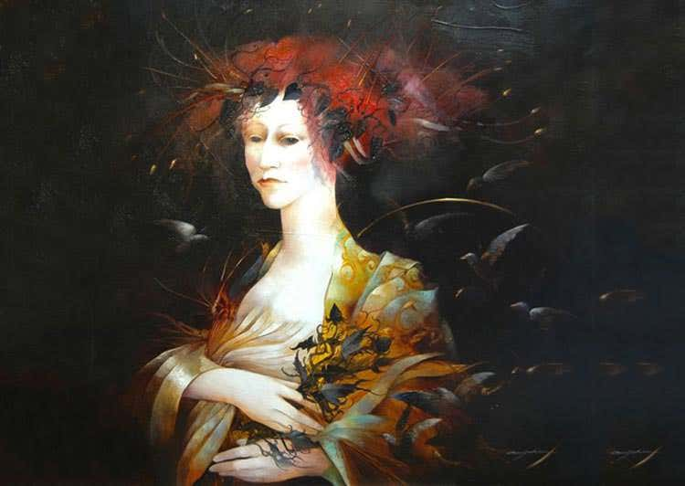 metamorphosis oil paintings by anne bachelier