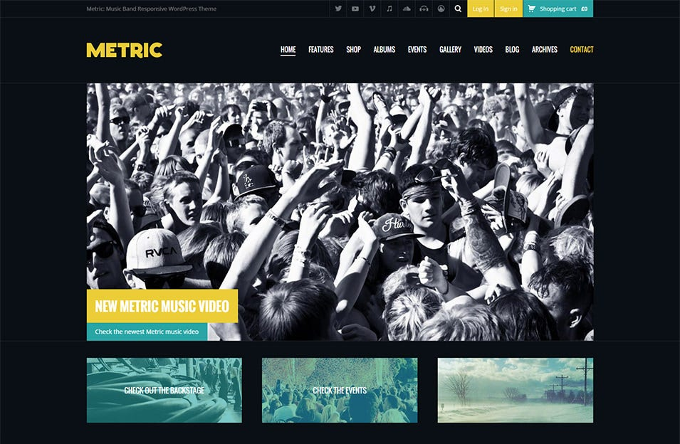 Create your own Website with 40+ Band & Music Band WordPress ...