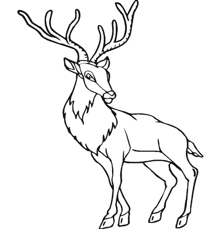 mighty deer template