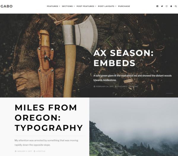 minimalist full screen wordpress theme
