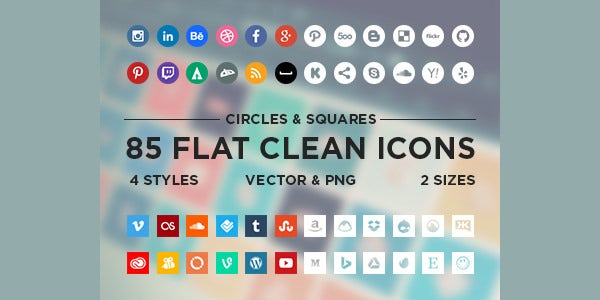 minimalistic social icons