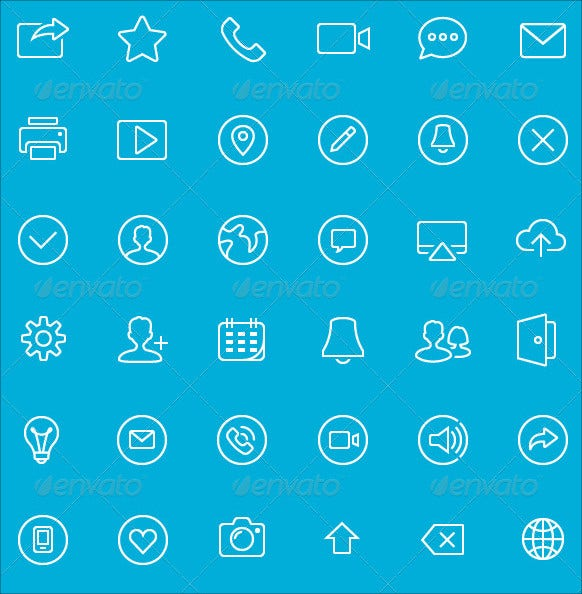 mobile application ui design icon set