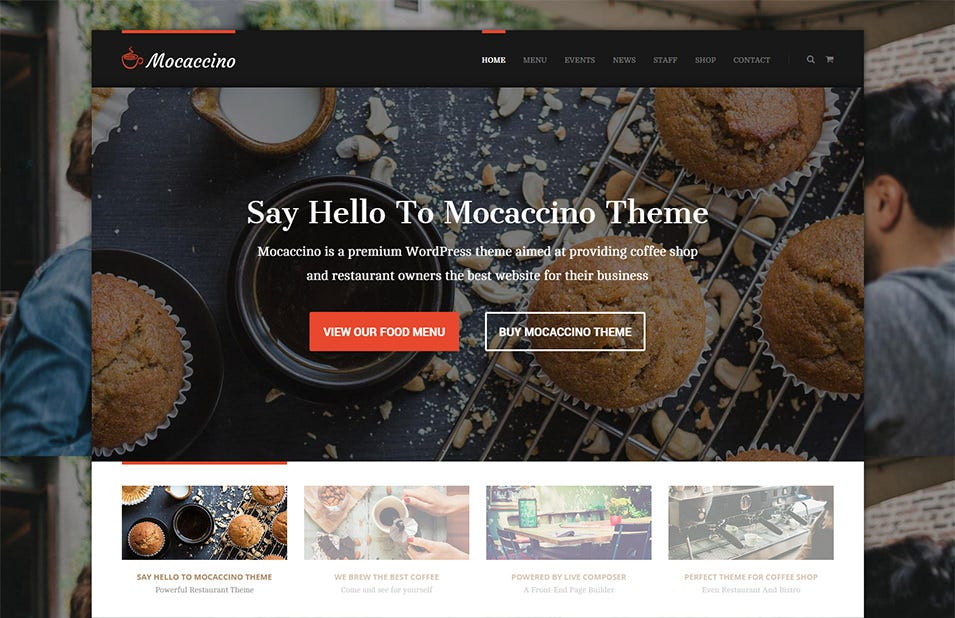 mocaccino restaurant theme