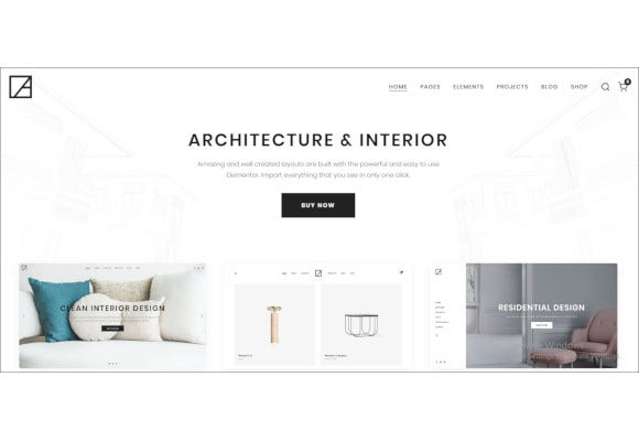 modern architecture and interior design wordpress theme