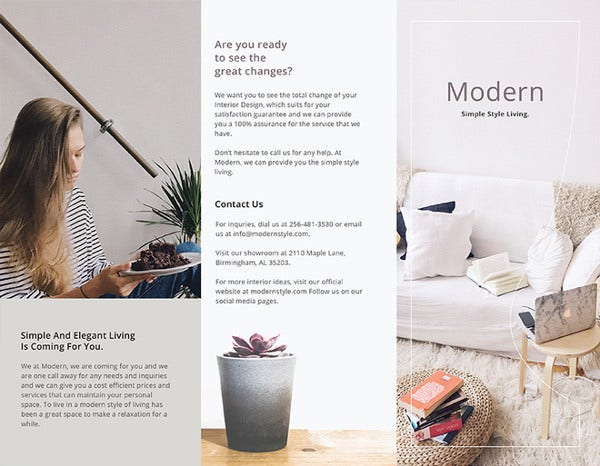 modern brochure illustrator template