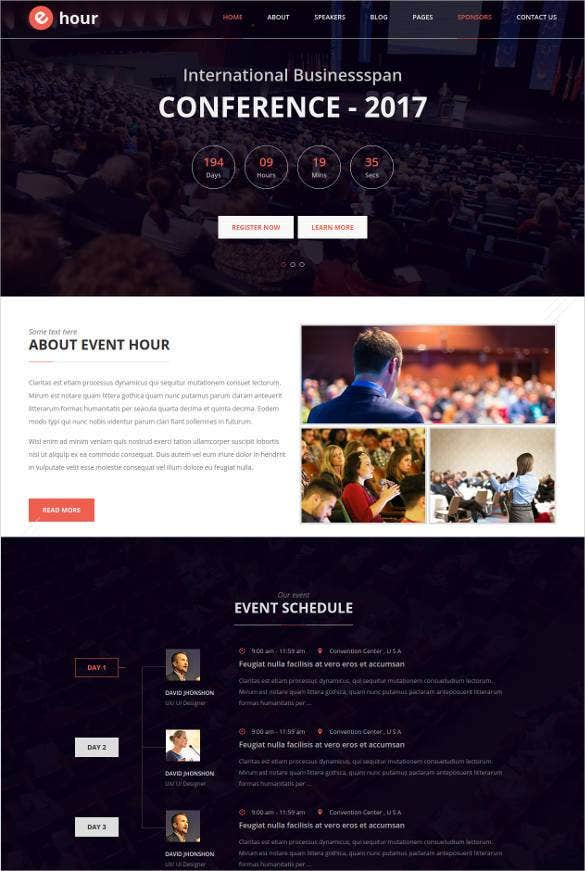 33  event planning website themes  u0026 templates