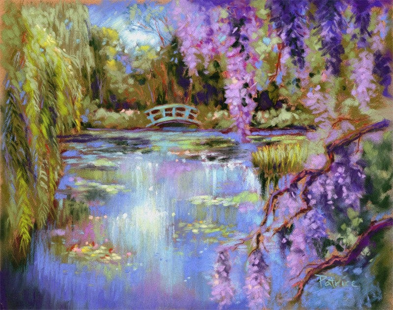 Monet painting impressionist paintings free premium for Garden painting images
