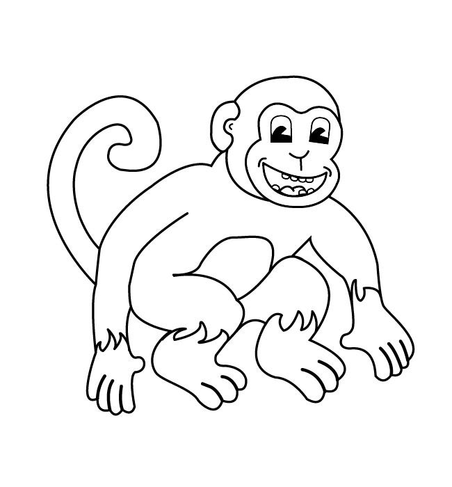 Monkey Template - Animal Templates