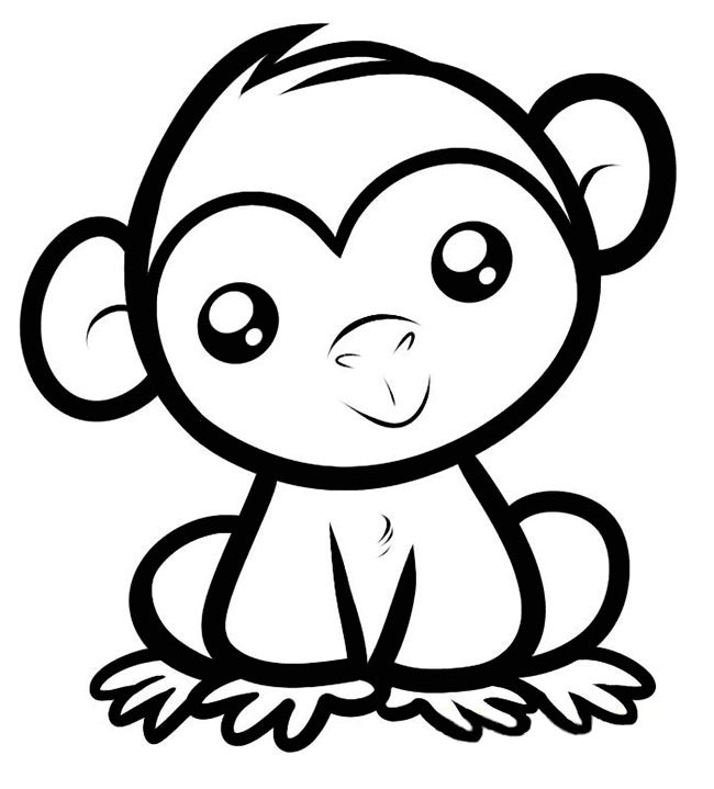 Monkey Template Animal Templates Free Premium Templates