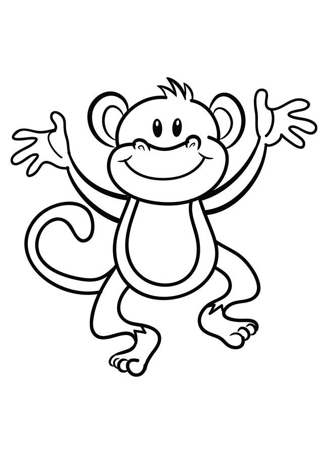 picture about Printable Monkey named Monkey Template - Animal Templates Cost-free High quality Templates
