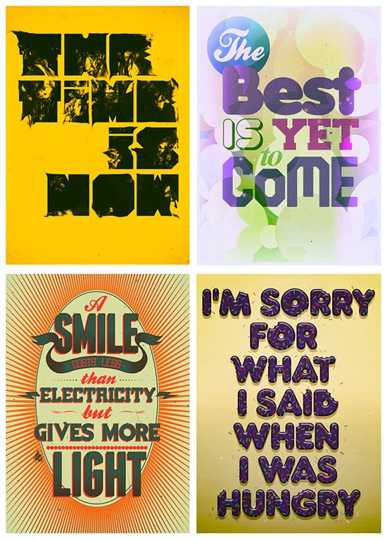 motivational typography posters