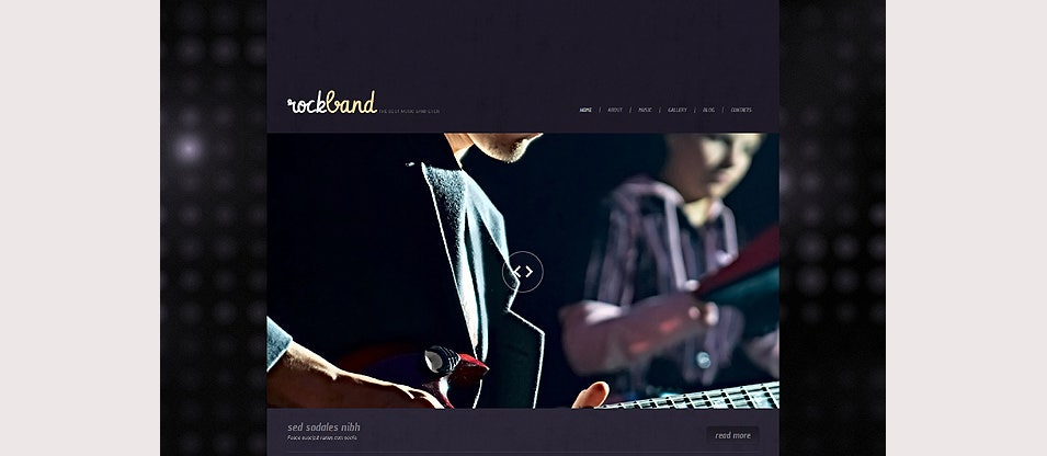 music band responsive wordpress theme1