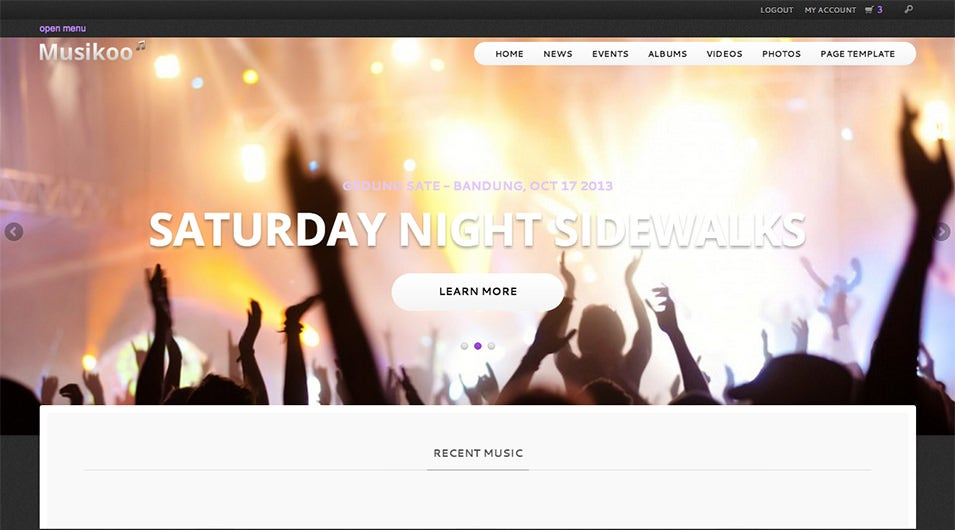 Musikoo Music Band Responsive WordPress Theme