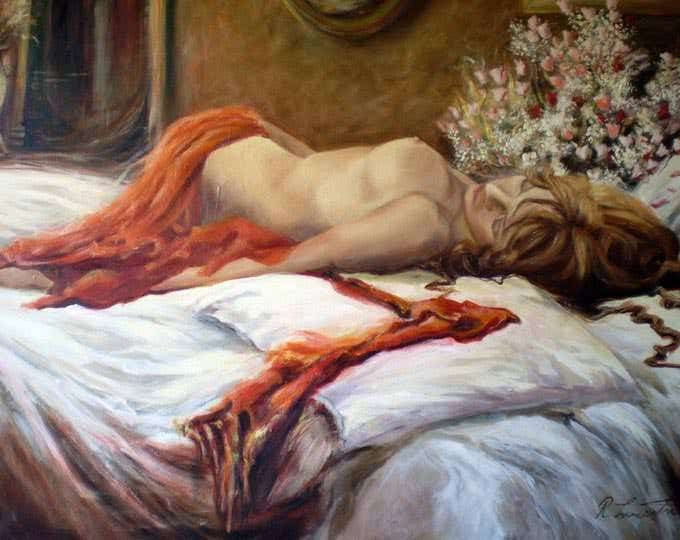 my dream figurative art painting