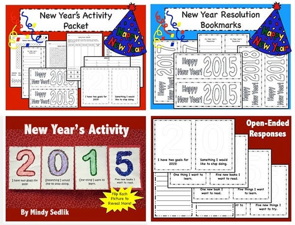 new year activities resolutions pack