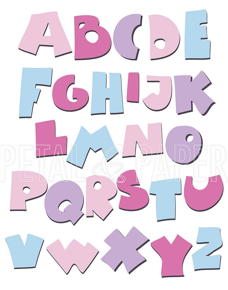 nursery decor alphabet poster