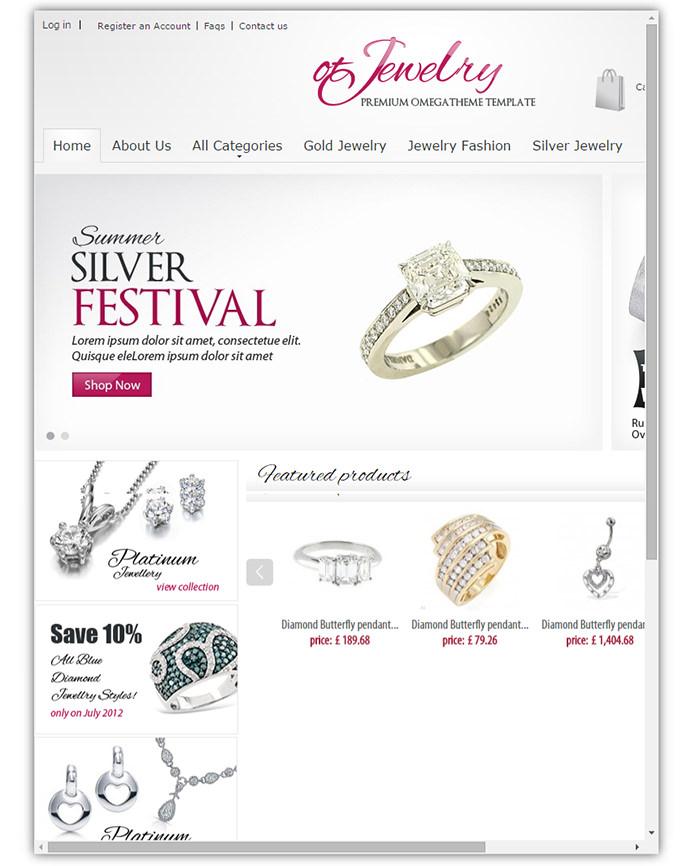 ot jewelry jewelry online store prestashop theme
