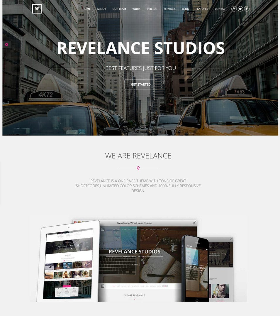 one page business parallax theme