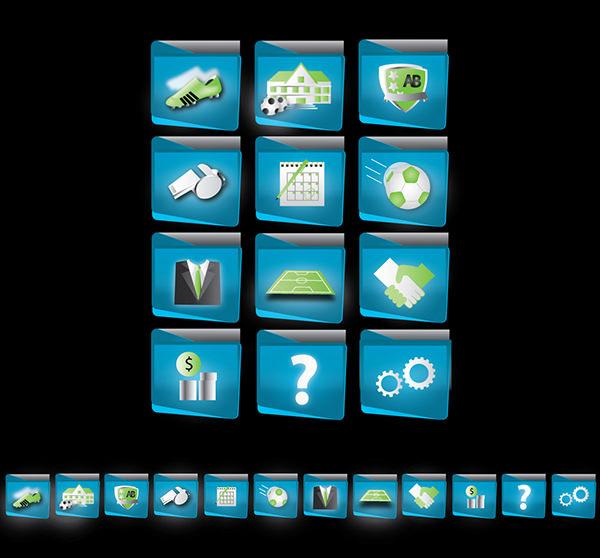 Online Admin soccer web-app buttons