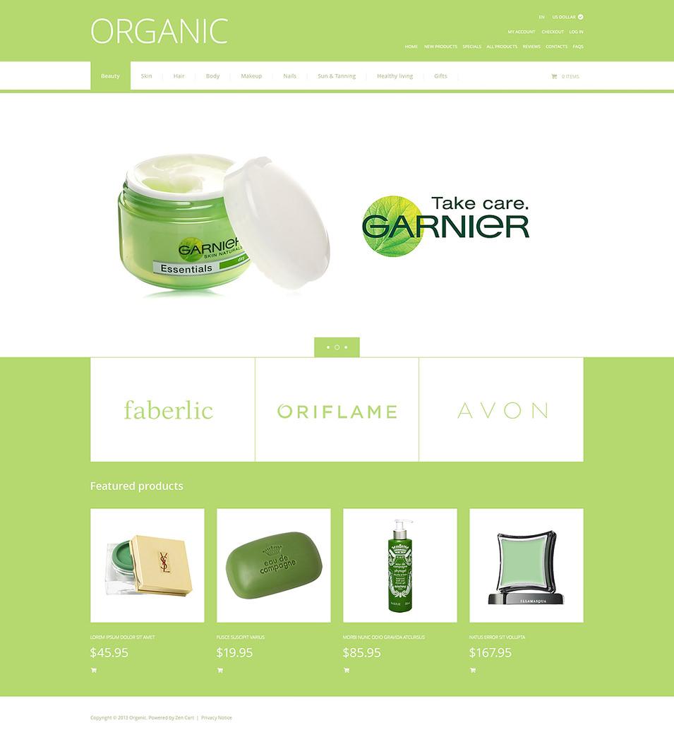 Organic Cosmetics ZenCart Template