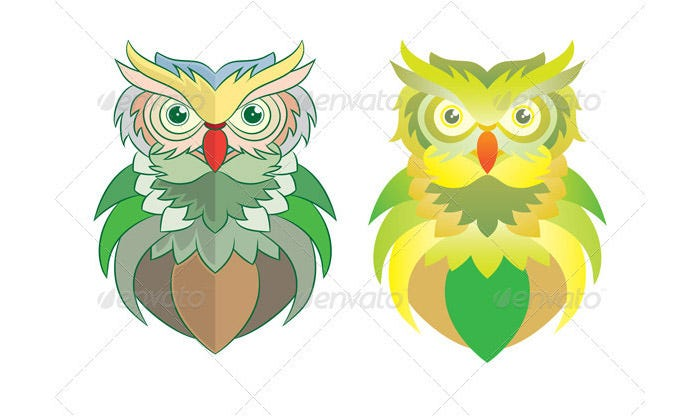 owl color artwork