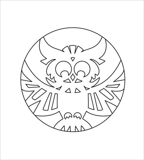 owl coloring page outline