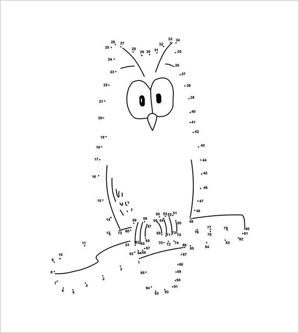 owl dot to dot template