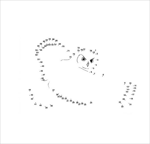 owl dot to dot template1