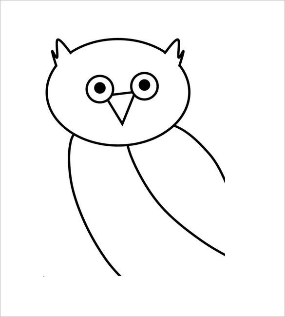 graphic regarding Owl Printable Template named Owl Template - Animal Templates Cost-free Top quality Templates
