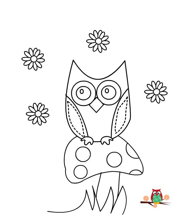 Owl Template - Animal Templates