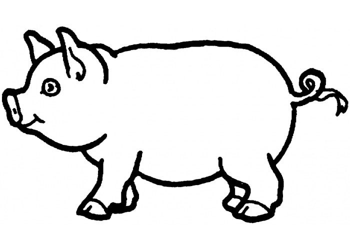 pig coloring page - Pig Coloring Pages