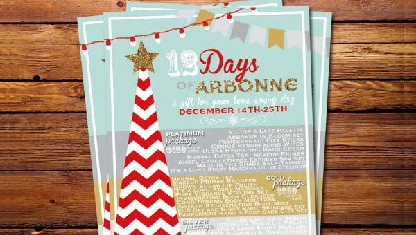 psd arbonne flyer template designs