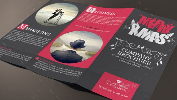psd christmas brochures templates